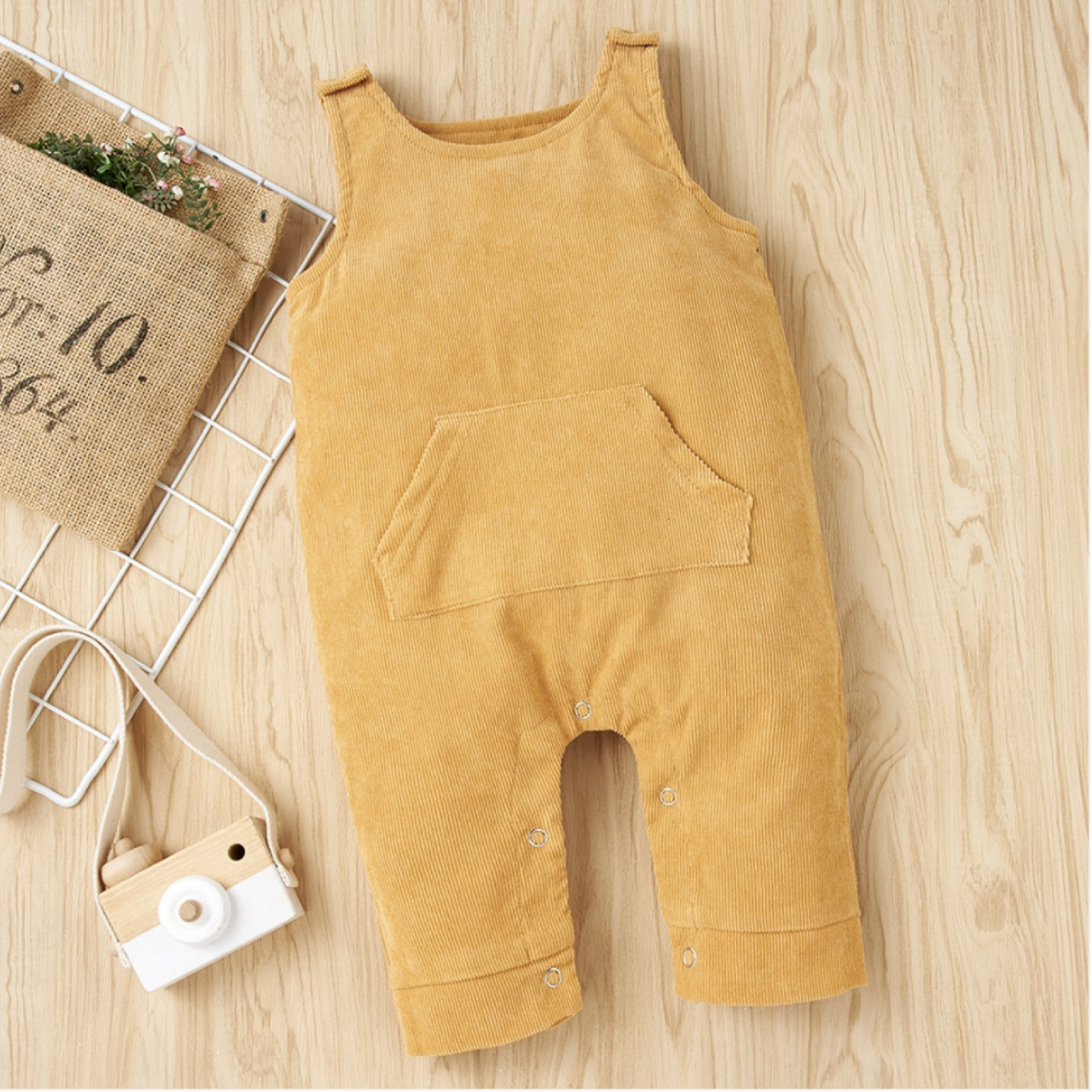 Baby Solid Sleeveless Jumpsuit